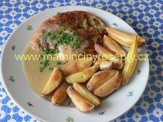 Přírodní řízek s hořčicí Czech Recipes, Stew, Pork, Chicken, Meat, Kale Stir Fry, Pork Chops, Cubs
