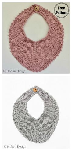 This cute baby bib free knitting pattern is great for making sure your toddlers don't spill food all over themselves! Use this free pattern now! Baby Bibs Patterns, Baby Knitting Patterns, Free Knitting, Crochet Patterns, Crochet Baby Bibs, Knit Or Crochet, Free Crochet, Knitting Projects, Crochet Projects
