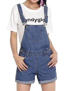 452c18b03f XiaoTianXin-women clothes XTX Womens Juniors Girls Bib Casual Denim  Shortalls Overalls Shorts Cowboy