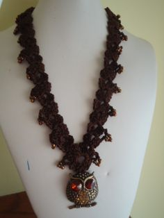 Crocheted necklace by TheCrochetThing on Etsy, $25.00