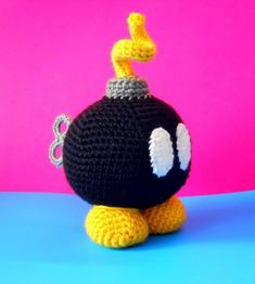 Bob-Omb inspired by Super Mario Bros - Amigurumi Plush Toy