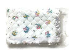 NOS Vintage Baby Crib Security Blanket Satin Edge Quilted UNION MADE Deadstock