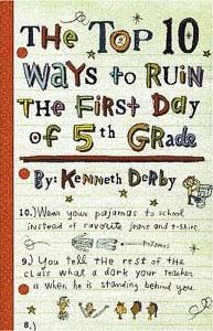 Humor books for fifth graders  Looks like a fun book to read beginning of school