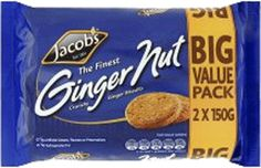 Jacobs Ginger Nut 300g (10.6oz) $2.49 - Crunchy and sweet ginger nut flavored biscuits using an age-old trusted Jacob's family recipe. - See more at: http://www.foodireland.com/p/510519.html