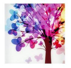 Stampa su Vetro Albero Colorato 60x60 cm