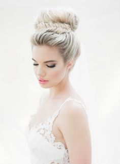 Top knot with fishtail braid | Makeup: Windy Chiu | Hair: Suzie Kim | Soft and Romantic Bridal Editorial | ARTIESE Studios