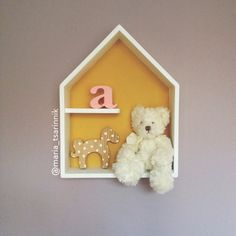 House Shaped Shelf, Wooden House Shelf, Kids Shelf. House Shadow Box. by Purplepollen on Etsy https://www.etsy.com/listing/240860441/house-shaped-shelf-wooden-house-shelf