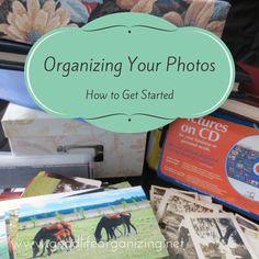 Organizing Your Photos - how to get started | goodlifeorganizing.net