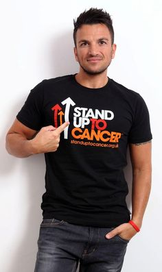 Peter Andre supports Stand up to Cancer @StandUp2C