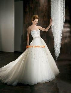 Ball Gown/Askunge Organza Dragkedja Bröllopsklänningar 2013
