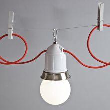 Originelles Seilsystem mit Fassungsleuchten | Es werde Licht ...