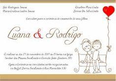 Resultado de imagem para convite de casamento com noivinhos para editar e imprimir