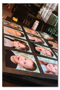 This i REALLY want to do!  Photo Wall Art - Portrait Display ~ Sugar Bee Crafts
