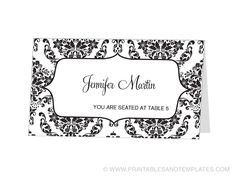 Avery Place Card Template - INSTANT DOWNLOAD - Escort Card - For ...
