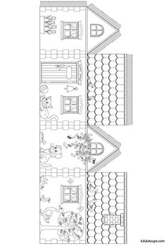 Fun Arts And Crafts, Crafts For Kids, Paper Toys, Paper Crafts, Boy And Girl Shared Bedroom, Christmas Craft Fair, House Template, Creative Activities For Kids, Diy Advent Calendar
