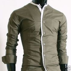 Casual shirt without collar. Smart