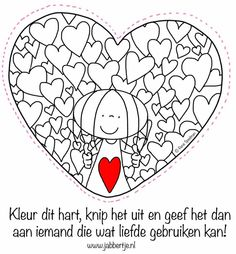 Liefde om te geven...... Cartoon Coloring Pages, Colouring Pages, Coloring Pages For Kids, Valentine Activities, Book Activities, Yoga For Kids, Art For Kids, Diy And Crafts, Crafts For Kids