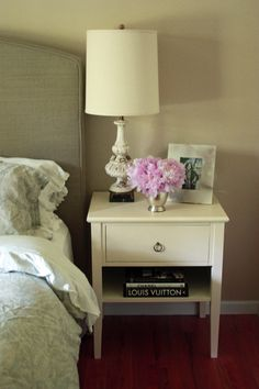 Bedside tables, Annie Sloan chalk paint in Old White.  MARIANNE SIMON DESIGN | Seattle Interior Designer - blog
