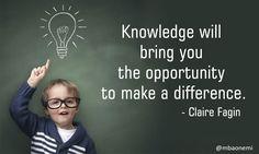 #QuoteoftheDay Via MBAonEMI #MondayMotivation #Quote #Good #Life #QOTD #inspiringquotes #Success #InspirationalQuotes #Quotes #Good #Monday #opportunity #knowledge