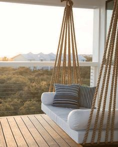 Charming Porch Swing Design Ideas www. Home Design: 80 Charming Porch Swing Design Ideas www.Home Design: 80 Charming Porch Swing Design Ideas www. Diy Swing, Rope Swing, Rope Fence, Terrasse Design, Swing Design, Fence Design, Window Design, Sweet Home, Diy Home Decor