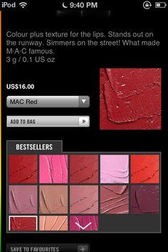Mac Mac Red Lip Stick