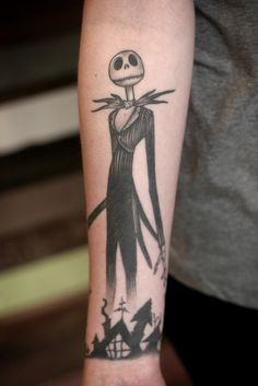 healed Nightmare before Christmas tattoo by Sean Wright  http://wonderlandtattoospdx.tumblr.com http://wonderlandpdx.com