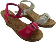 Girls wedge sandals...I especially love the white ones