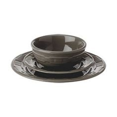 Find this Pin and more on Longaberger Pottery Dinnerware.  sc 1 st  Pinterest & Longaberger Woven Traditions® Pottery 12-Pc Dinnerware Set Pewter ...
