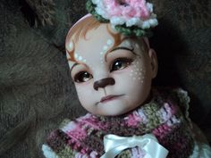Reborn faun.  I love the hair, eyes, nose and mouth.