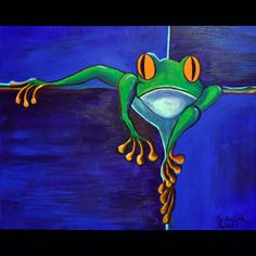 contemporary frog art | double click on above image to view full picture