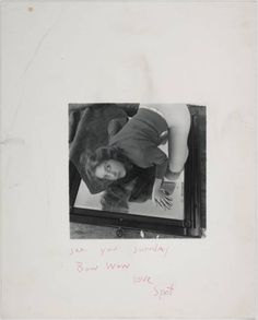 Francesca Woodman, 'Untitled' Woodman's photographs explore issues of gender and self, looking at the representation of the body in relation to its surroundings. She usually puts herself in the frame most often. These are not conventional self-portraits, since as she is either partially hidden, or concealed by slow exposures that blur her moving figure into a ghostly presence. This underlying fragility is emphasised by the small and intimate format of the photographs.