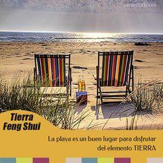 Feng Shui y el elemento Tierra - Aprovecha tus vacaciones en la playa para estar en contacto con el elemento #tierra. #fengshui #5elementos