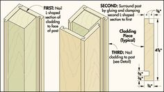 how to make a porch column