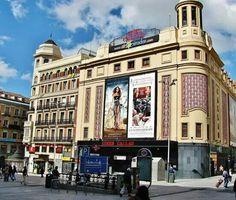 Madrid. Plaza Callao Madrid City, Benalmadena, Spanish Architecture, Homeland, Notre Dame, Plaza, Street View, Villa, World