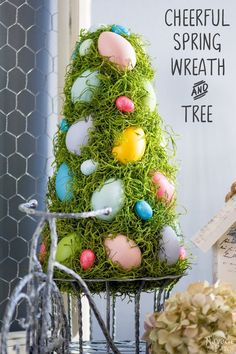 Cheerful Spring Wreath and Tree - The Navage Patch