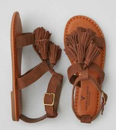 AEO Tassel T-Strap Sandal - Buy One Get One 50% Off