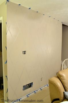 How To Paint A Diamond Accent Wall Using ScotchBlueTM Painters Tape