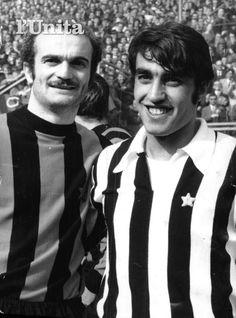 "Alessandro ""Sandro"" Mazzola (FC Inter Milan, 1960–1977, 417 apps, 116 goals) and Pietro Anastasi (Juventus FC, 1968-1976, 205 apps, 78 goals)."