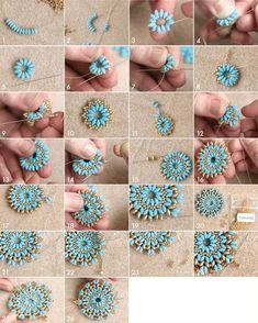 "mandala_pendant_tutorial ""DIY Mandala necklace and earrings set tutorial"", ""mandala_pendant_tutorial - Crafting For Holidays"", ""🌹Beading Archives - Bead Jewellery, Seed Bead Jewelry, Beaded Jewelry, Handmade Jewelry, Handmade Beads, Jewellery Shops, Beaded Bracelets, Diy Earrings Beads, Diy Jewelry Gold"