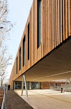 School Center Lucie Aubrac, Nanterre, France by Dietmar Feichtinger Architectes