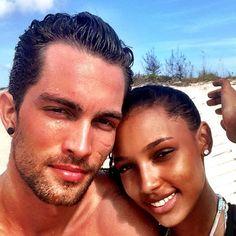Jasmine Tookes and Tobias Sorensen   #bwwm #interracial couple