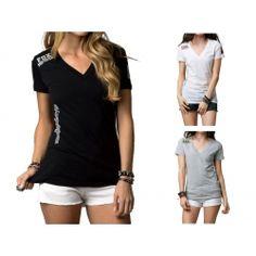 2013 Fox Racing Pit Pass V Neck Casual Moto Apparel Short Sleeve T-Shirt Tee