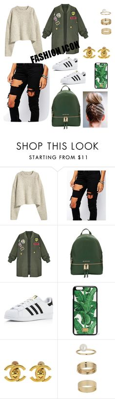 """""""School OOTD"""" by itsbrianasanders on Polyvore featuring Liquor n Poker, WithChic, MICHAEL Michael Kors, adidas, Dolce&Gabbana, Chanel and Miss Selfridge"""