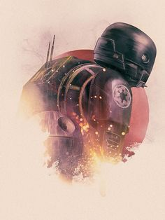 """Rogue One A Star Wars Story"" K-2SO print by Rich Davies for the Poster Posse's 5-day tribute"