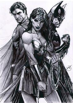 Superman, Batman & Wonder Woman by Stjepan Sejic