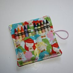Crayon Rolls Party Favors Mermaids Crayon Holder holds 10 Crayons