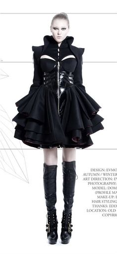 http://synesthesiagarden.com/tag/haute-couture/  Future Modern Goth Couture Dress and Jacket
