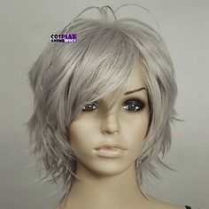 Bilderesultat for Short Shag frisyrer for grått hår - Harstiler Shaggy Short Hair, Short Shaggy Haircuts, Short Shag Hairstyles, Mom Hairstyles, Short Hair Cuts, Pixie Haircuts, Short Pixie, Shag Hair Cut, Short Emo Hair