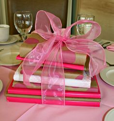 Books and Bows baby shower