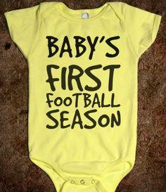 BABY'S FIRST FOOTBALL SEASON :-).